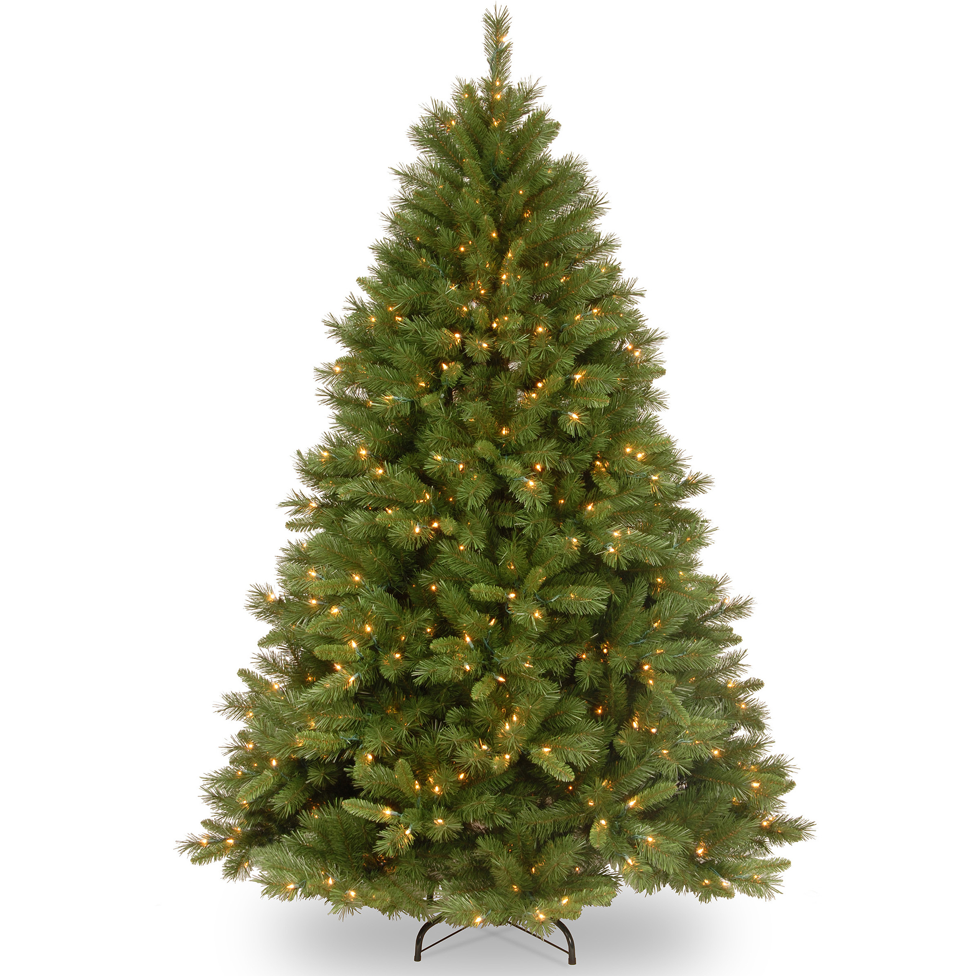 National Tree Pre-Lit 7-1/2' Winchester Pine Hinged Artificial Christmas Tree with 500 Clear Lights