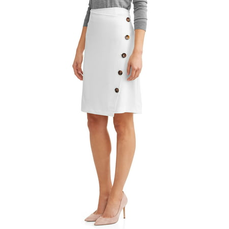 Women's Tort Button Skirt