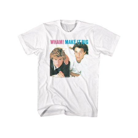 Wham English Music Duo Make It Big White Adult T-Shirt Tee
