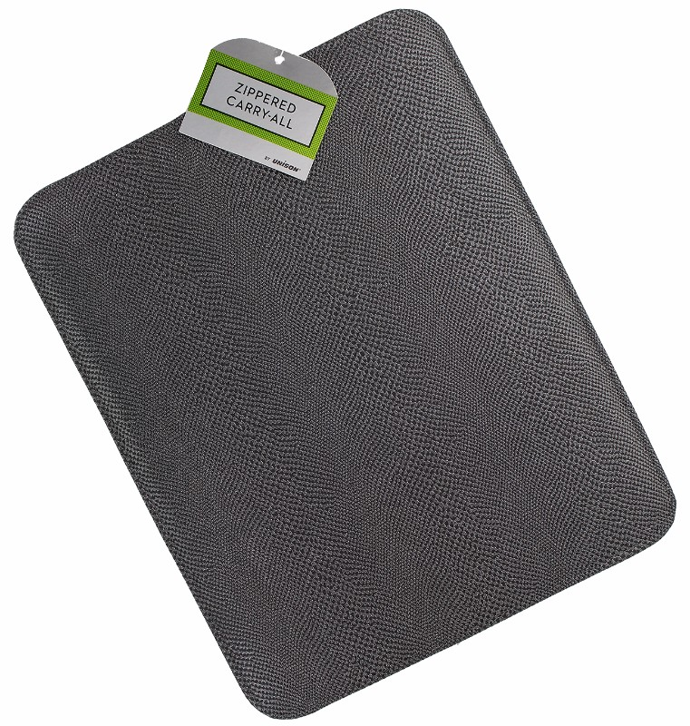 Unison Faux Lizard Zippered Carry-All Case for Most Laptop Sizes - Gray