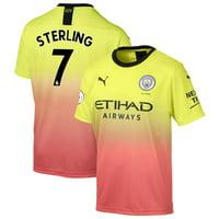 Raheem Sterling Manchester City Puma 2019/20 Third Replica Player Jersey - Yellow
