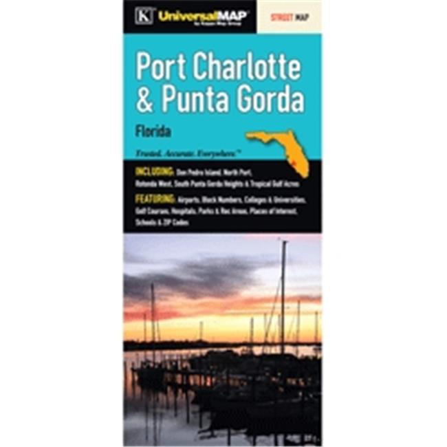 Map Of Punta Gorda Florida.Universal Map 11749 Port Charlotte Punta Gorda Fl Fold Map
