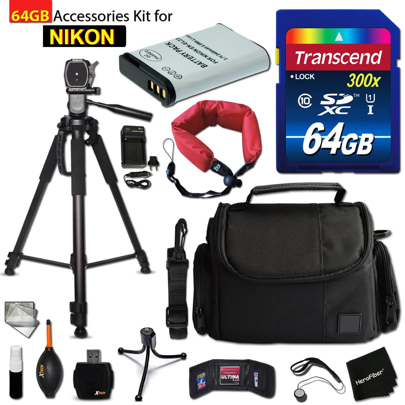64GB Accessory Kit for Nikon CoolPix B700, P900, P610, P6...