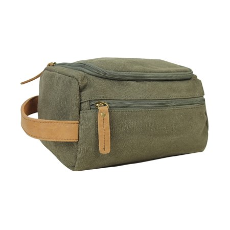 Vagarant Traveler Vintage Cotton Canvas Travel Toiletry Bag CT01.GRN