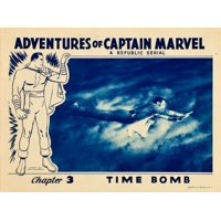 The Adventures Of Captain Marvel Stretched Canvas -  (14 x 11)
