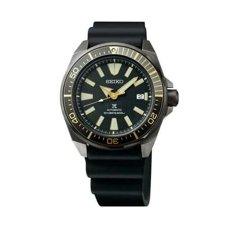 Seiko Prospex Black Ion Automatic Dive Watch with Black S...