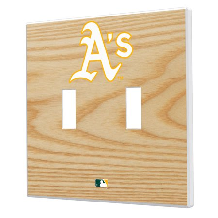 Oakland Athletics Baseball Bat Design Double Toggle Light Switch Plates - No Size Oakland Athletics Design