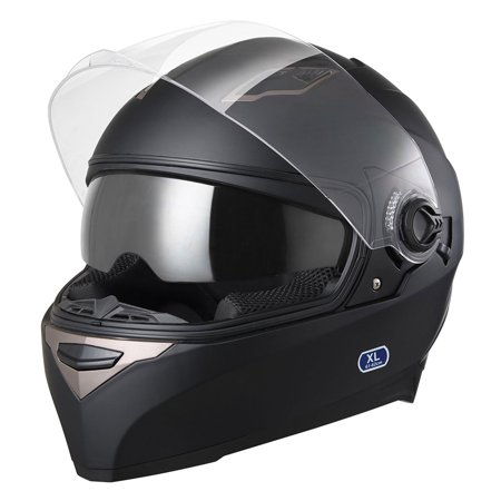 Yescom DOT Motorcycle Full Face Helmet Dual Visors Sun Shield Lightweight ABS Motorbike