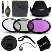 67MM Filters Accessories KIt includes: 67mm Filters (UV,FLD,CPL) + Filters Case + 67mm Hard Tulip shaped Lens Hood + 67mm Lens Cap + Lens Cap Holder + Cleaning Pen & Blower + HeroFiber Cleaning cloth