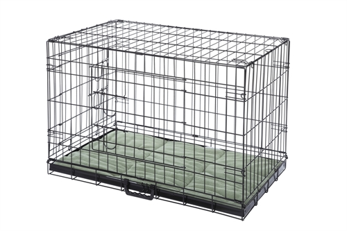 """Confidence Pet 48"""" Folding Dog Crate Kennels 2 Door Puppy Cage With Bed 2XL by"""