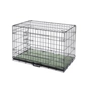 "Confidence Pet 48"" Folding Dog Crate Kennels 2 Door Puppy Cage With Bed 2XL"