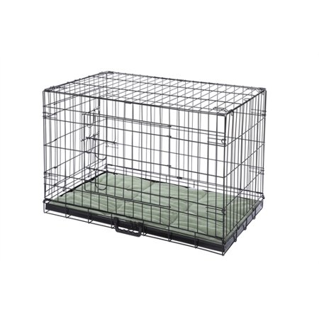 "Confidence Pet 42"" Folding Dog Crate Kennels 2 Door Puppy Cage With Bed XL"