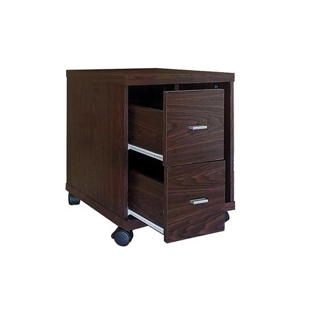 Peel 2-Drawer Computer Stand Medium Oak