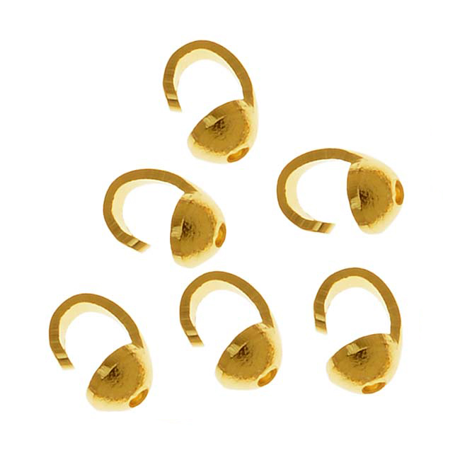 22K Gold Plated Beadtips Knot Covers (100)