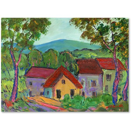 "Trademark Fine Art ""Rainbow Home"" Canvas Art by Manor Shadian"