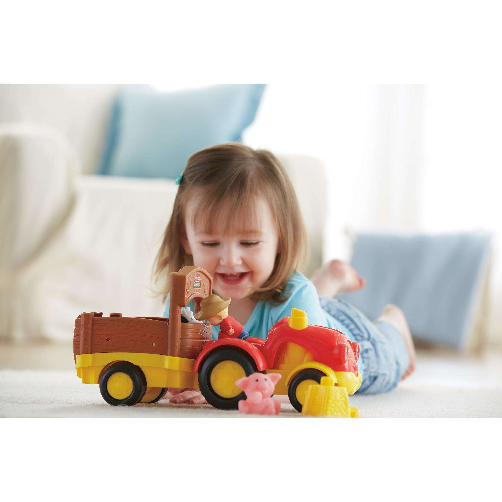 Little People Tow n Pull Tractor Walmart