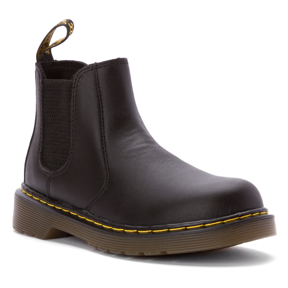 Dr. Martens Kid's Chelsea Casual Boots Black Leather 1 Little Kid M UK 2 M by Dr. MARTENS