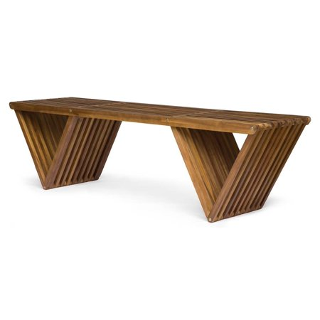Outdoor Bench in Teak Finish -