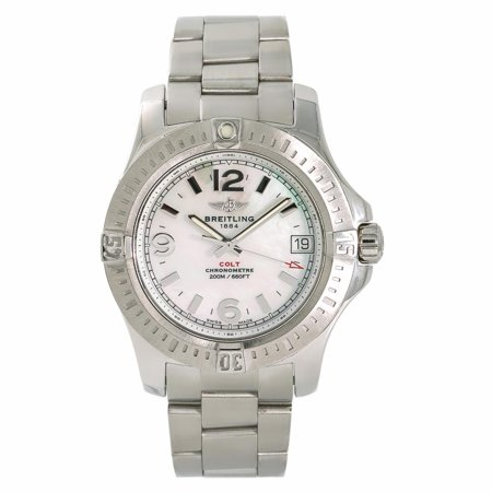 Pre-Owned Breitling Colt A74389 Steel Women Watch (Certified Authentic & Warranty)