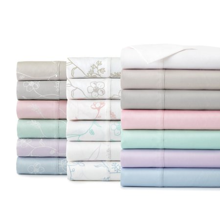 Shabby Chic Floral Printed & Solid 300 Thread Count 100-percent Cotton Sateen Sheet Set by Southshore Fine Linens