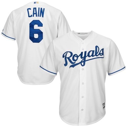 Lorenzo Cain Kansas City Royals Majestic Cool Base Player Jersey - White