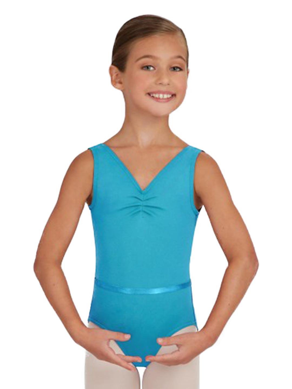 09759c99b Capezio - V-Neck Pinch Front Leotard w Belt - Girls - Walmart.com