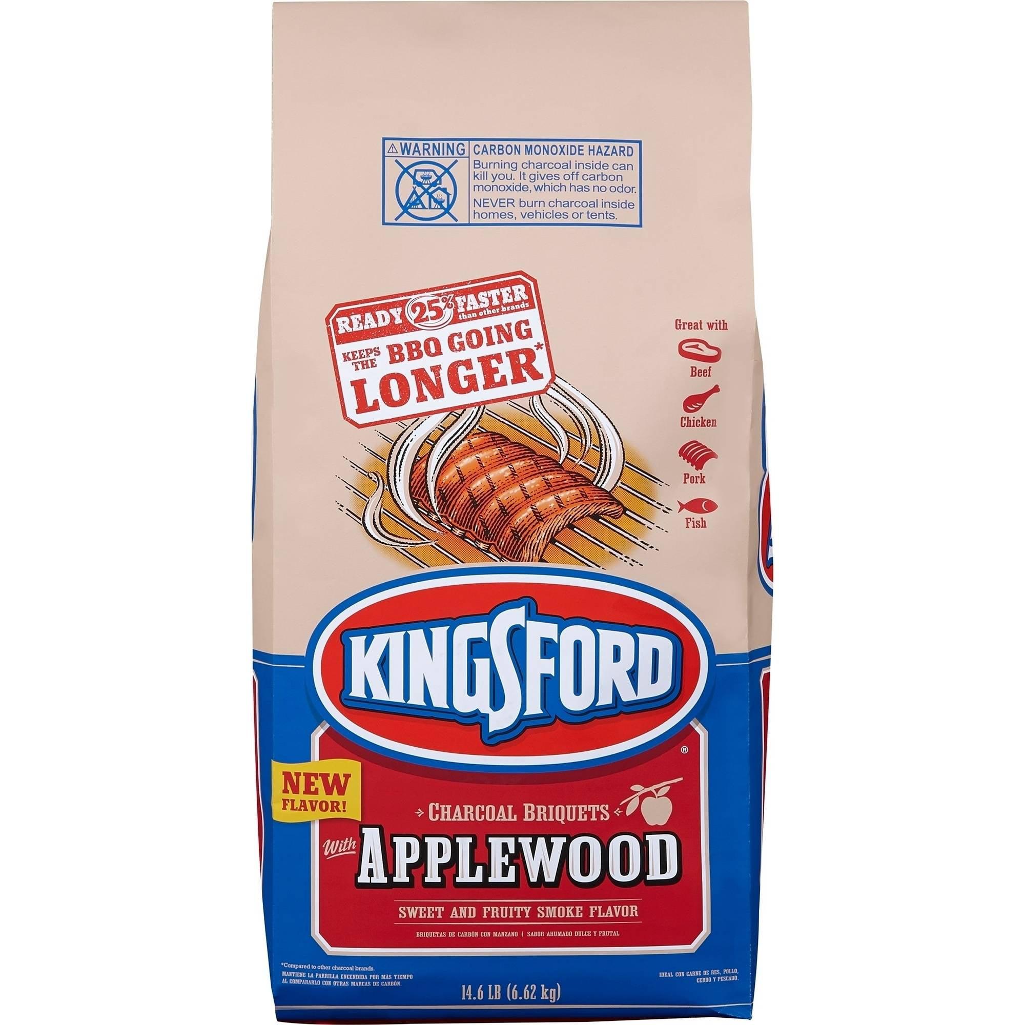 Kingsford Charcoal Briquets, Applewood, 14.6 lb Bag