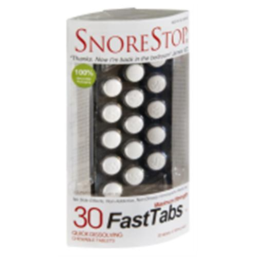 SnoreStop FastTabs Chewable Tablets Maximum Strength 30 ea (Pack of 2)