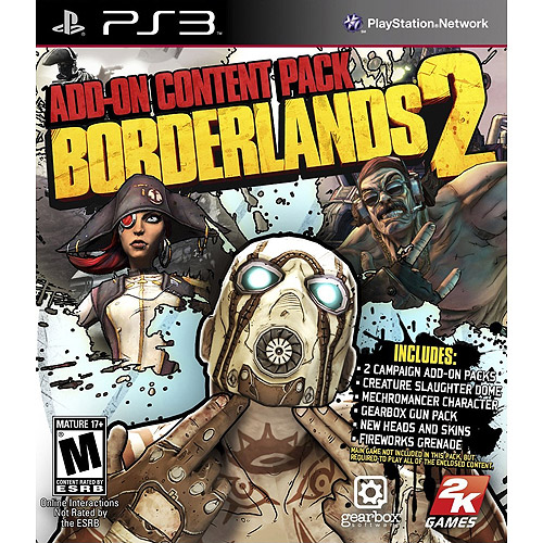 BORDERLANDS 2: ADD-ON CONTENT PACK PS3 SHOOTER