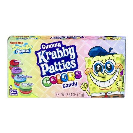 Gummy Krabby Patties Colors Candy Nickelodeon Spongebob Squarepants, 2.54 OZ](Spongebob Candy)