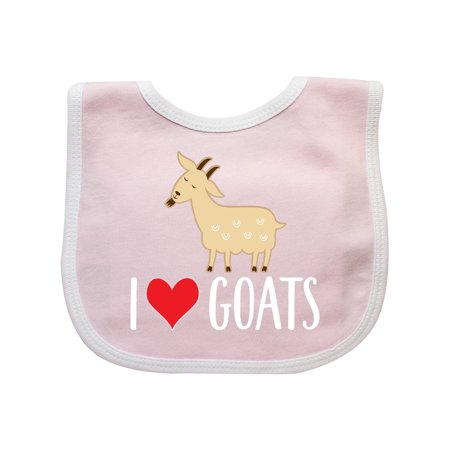 Animals Eat Bib (Goat Cute I Love Goats Farm Animal Baby)