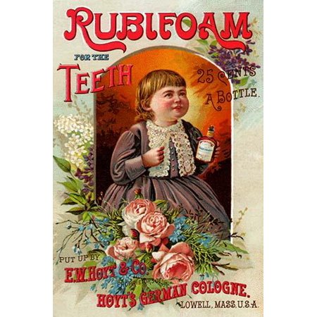 Soap Victorian Trade Card (The EW Hoyt company of Lowell Massachusetts promoted its product Rubifoam for the Teeth through the use of trade cards during the Victorian era  These cards were sweet and innocent and featured claims )