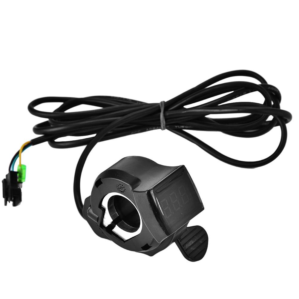 12V-99V Electric Scooter E-bike Thumb Throttle Power Switch LCD Digital Display