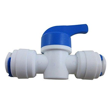 "TmallTech 3/8""x3/8"" Tube Ball Valve Quick Connect Shut Off for RO Water Reverse Osmosis"