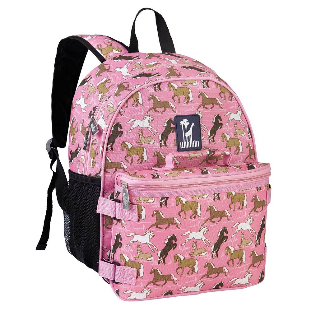 Wildkin Horses in Pink Bogo Backpack w/ Lunch Bag
