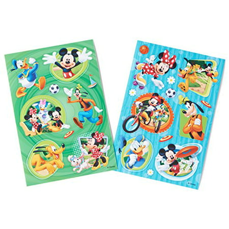 (Disney Mickey Mouse Clubhouse Sticker Sheets, Removable, 2 Count, Party Supplies)