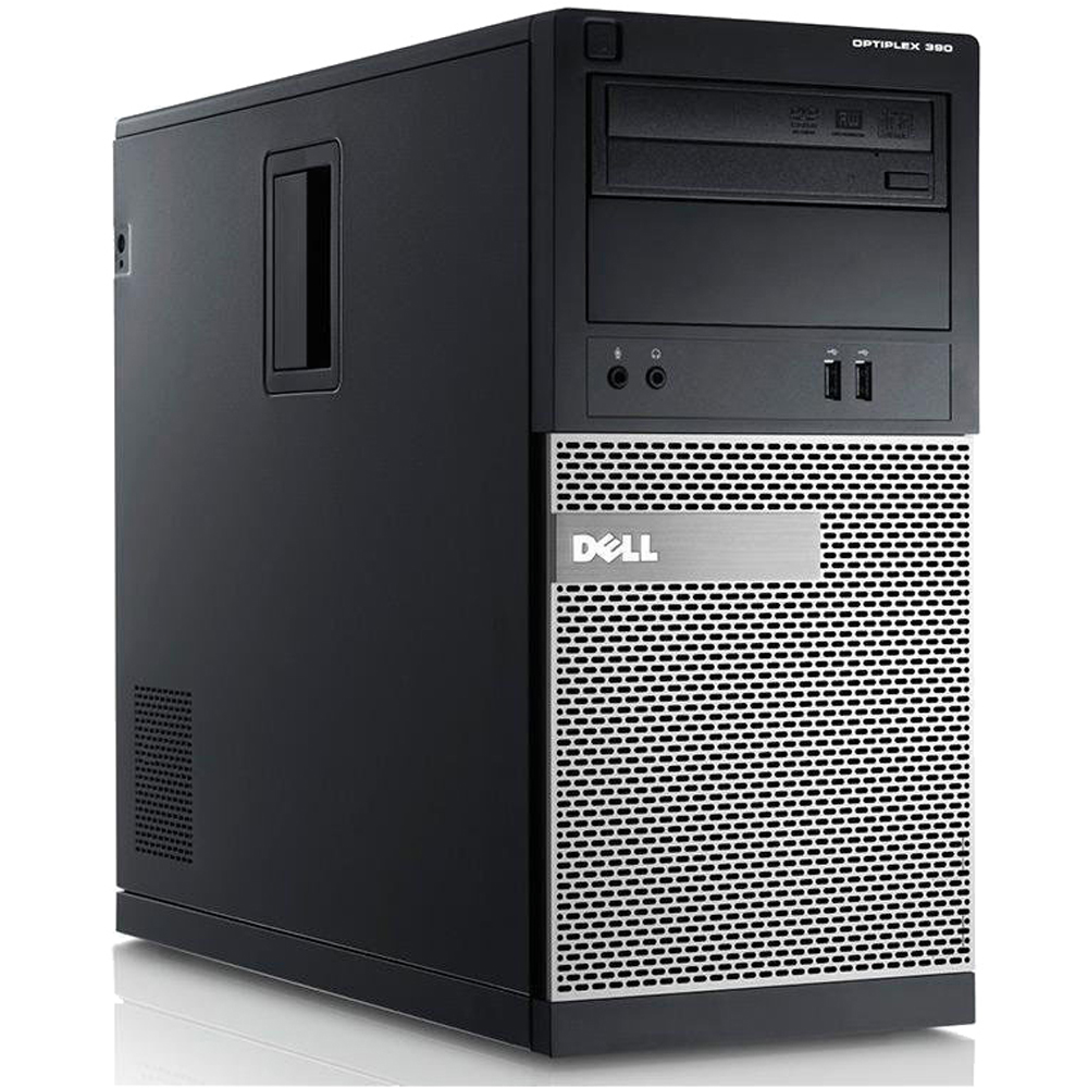 Dell Optiplex 390 Refurbished Desktop Tower Intel Core i3 3.3GHz 8GB 250GB Windows 10 Pro (Monitor Not Included)
