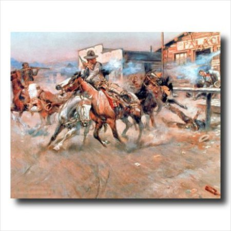 Russell Pistol Western Cowboy Wall Picture Art Print