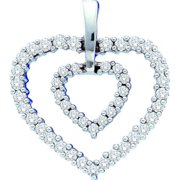 Gold and Diamonds GN1206-W 0.50CT-DIA HEART PENDANT- Size 7