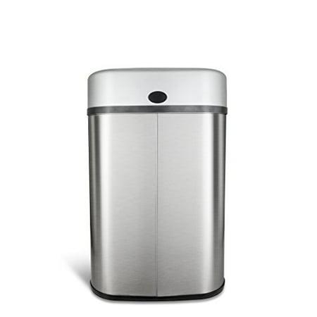 Nine Stars 21.1-Gallon (80-Liter) Stainless Steel Sensor-Operated Trash Can