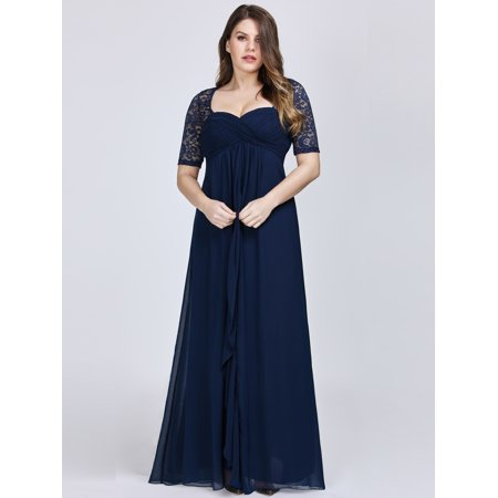 Ever-Pretty Womens Plus Size Mother of the Bride Dresses for Women 07625 Navy Blue