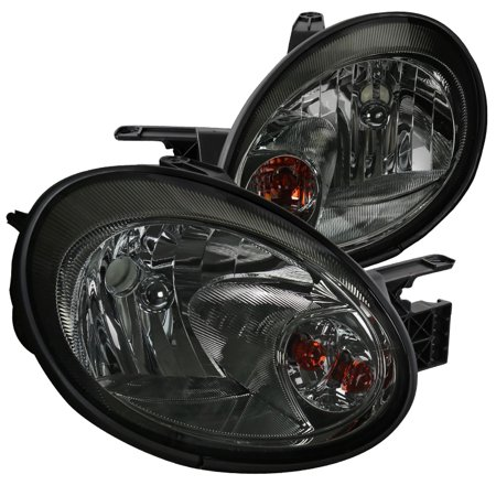 2004 Headlight Tint Kit - Spec-D Tuning For 2003-2005 Dodge Neon Smoke Lens Edition Replacement Tinted Headlights Headlamps Set Pair (Left+Right) 2003 2004 2005