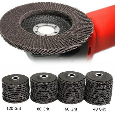 Grit Grinder Disk (10Pcs 4 Inch 40/60/80/120 Grit Angle Grinder Flap Sanding Disc Grinding Wheels Tools)