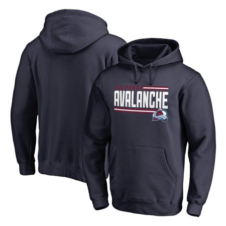 Avalanche Pullover - Colorado Avalanche Fanatics Branded Iconic Collection On Side Stripe Pullover Hoodie - Navy