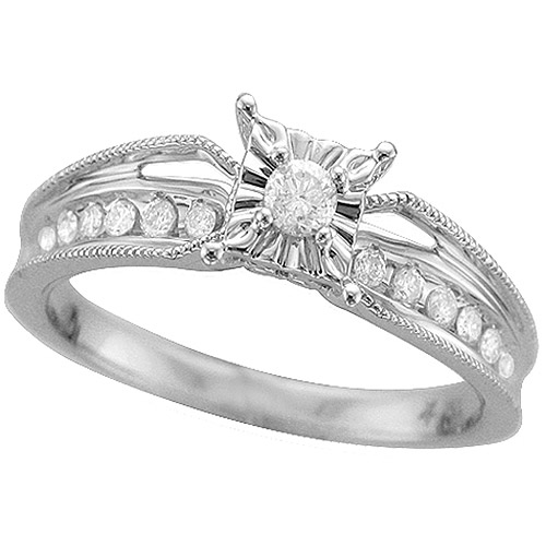 1/4 Carat T.W. Diamond Promise Ring in Sterling Silver