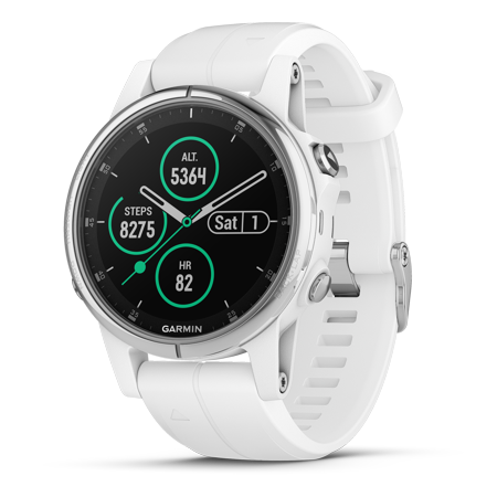 Fenix 5S Plus Sapphire, White with Carrara white band