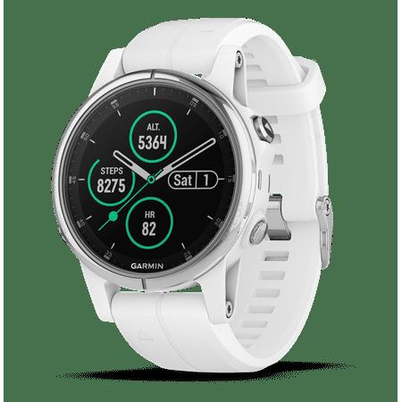 Garmin Fenix 5S Plus Sapphire Watch - White