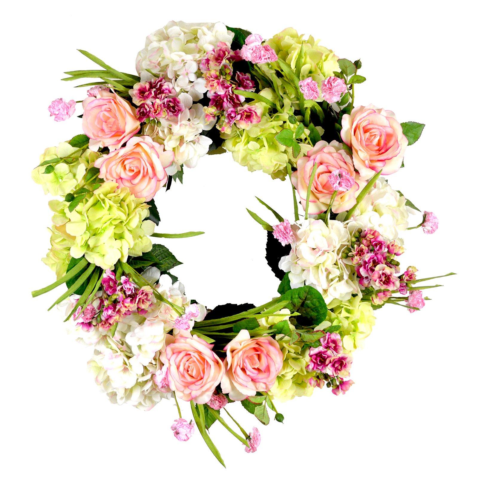 Creative Displays & Designs Multi Color Hydrangea Wreath Silk Plant