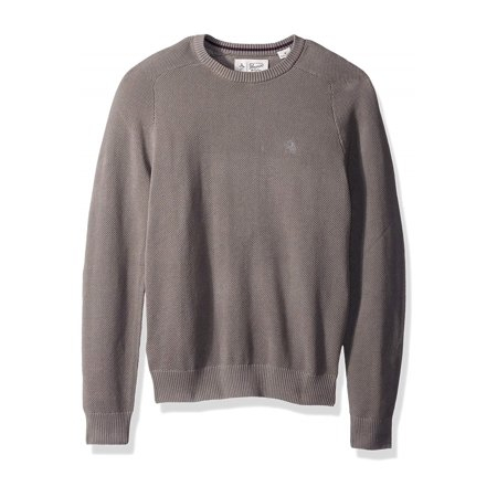Penguin Mens Honeycomb Pique Pullover Sweater steelgray S - image 1 de 1