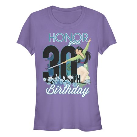 Mulan Juniors' Honor Your 30th Birthday T-Shirt (Mulan Please Bring Honor To Us All)